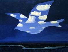 The Promise (La Promisse) by Magritte, 1950   Mature Period: 1949-1960   Matteson Art