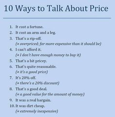 Forum | ________ Learn English | Fluent Land10 Ways to Talk about Price | Fluent…