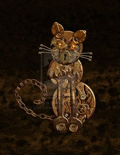 .Steampunk kitty!