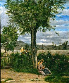 Silvestro Lega(1826ー1895 Italian painter)