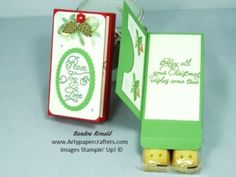 Christmas Gift Box idea with Gift Card Holder - Stampin' Up!