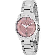 Gucci Watches Women's G-Timeless Watch - Pink - Women's Watches (722,520 KRW) ❤ liked on Polyvore featuring jewelry, watches, pink, water resistant watches, pink jewelry, quartz movement watches, pink watches and gucci jewellery