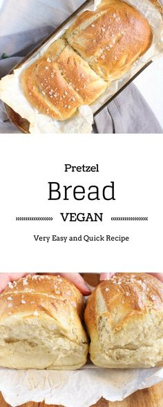 Vegan Pretzel Bread | Go from pretzels to pretzel bread with this awesome very easy and vegan recipe. |Brokefoodies.com