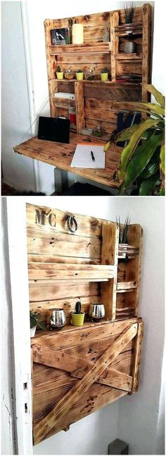 Falt Wand Schreibtisch Pläne, die Möbel für den home office