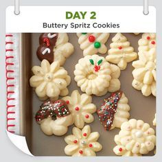 25 Days of Christmas Cheer :: Day 2 :: Buttery Spritz Cookies Recipe shared by Beverly Launius, Sandwich, Illinois...