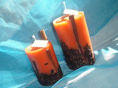 Orange Cappuccino candles