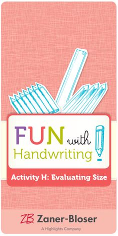 Teach your students a technique for establishing uniform letter height for improved legibility. Zaner Bloser Handwriting, Handwriting Activities, Students, Lettering, Teaching, Fun, Writing Activities, Drawing Letters, Education