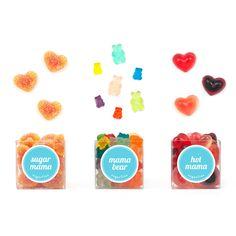 Sugar Mama Giftset - Peach Sweethears, Mama Bear Gummi, Hot Mama Chili Ginger Hearts