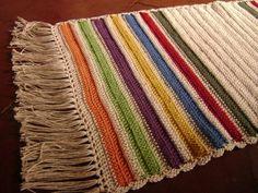 tapetes de croche coloridos - Pesquisa Google