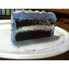Whipped cream icing... I used buddy (cake boss) recipe