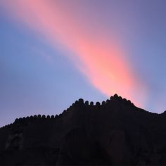 God's own painting over Golconda Fort!