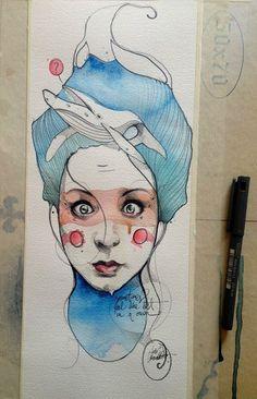Desenho Ilustração  Aquarela