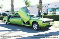 "Make your friends ""Green with envy"" with this tricked out Dodge Challenger limo!    Oh YE-AH! :-D"