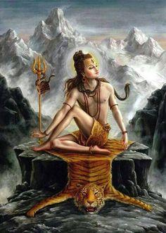 "Shiva is known as ""The Destroyer"" within the Trimurti, the Hindu trinity that includes Brahma and Vishnu Shiva Art, Krishna Art, Hindu Art, Shree Krishna, Indian Gods, Indian Art, Shiva Shankar, Lord Mahadev, Religion"