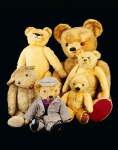 """Teddy bears enjoy a picnic along with the best of us. Do you know the """"Teddy Bear Picnic"""" song? Come sing and nibble and chat about all things teddy bear. Don't forget to bring your fuzzy friend. Framing Canvas Art, Old Teddy Bears, Love Bears All Things, Fabric Animals, Kids Poster, Bear Doll, Treasure Boxes, Animal Pictures, Baby Animals"""