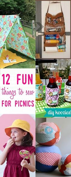 EASY sewing projects | summer fun | fun things to do in summer | summer picnics | picnic basket |