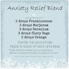 YL oil anxiety relief blend.