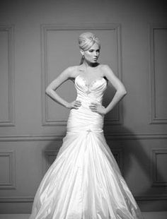 Bridal Gowns: Pnina Tornai Mermaid Wedding Dress with Sweetheart Neckline and Dropped Waist Waistline
