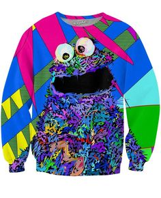 Mmmmmhh... me love cookies!!! Now you can show your love for your favorite Muppet with this sick depiction of cookie monster from Technodrome1 with our sick Coo