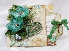 Hands to Work... Heart to Love: Hope Chest Mixed Media Pocket Card w/Tag and A Nautical Pen