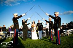 How to get sabers for your military wedding if the ceremony is not held at West Point.