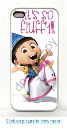 NEW Iphone 5 Print White RUBBER Case Cover Unicorn Movie Despicable Me 2 Minions (Ships From Alabama)