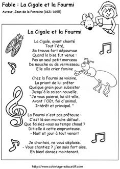 Les Fables de La Fontaine: La Cigale et la Fourmi. Fable Fontaine, Les Fables, French Classroom, Sculpture Painting, Poetry Books, Alphabet, Childhood, Language, Education