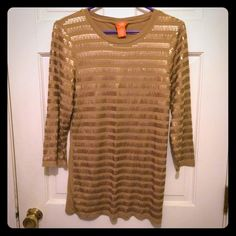 Gold shirt Gold shirt, striped with sequins ⭐️ Tops