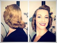 The 1940's Pageboy Tutorial-Basic Authentic Methods