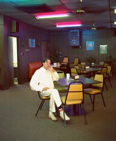 William Eggleston smoking, 1990