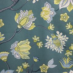 Home decor fabric english cottage - Arturo Garden blue Geometric Throws, Home Decor Fabric, Drapery Fabric, Decoration, Printing On Fabric, Floral Tops, Cottage, The Incredibles, Prints