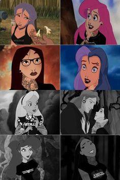 Alternative Disney princesses my favorite is mulan and pocahontas. I love this!