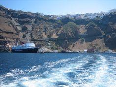 Houses built on a cliff, Santorini