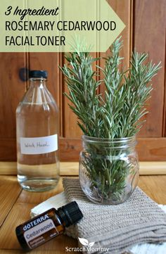 3 Ingredient DIY Rosemary Cedarwood Facial Toner