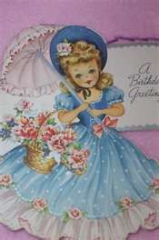 VINTAGE GREETING CARDS BIRTHDAY PRETTY GIRLS LOT OF 78 for sale