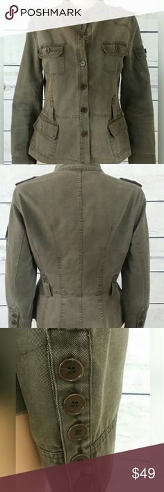 Zara Basic gray utility jacket size L Awesome gray khaki utility military jacket with epaulets and 4 front pockets. One arm pocket. Button cuffs detail and belt loops. Gently worn but In excellent condition from a studio lot. Check out my other beautiful items for sale and bundle up for a 15 percent discount cheers! Zara Jackets & Coats Utility Jackets
