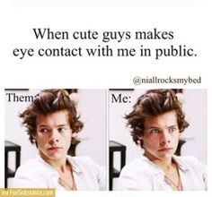 Totally me when I made eye contact with a cute guy on the train