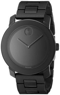 Movado Men's 3600047 Bold Analog Display Swiss Quartz Black Watch