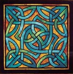 TSS2010 Knotwork Celtic stained glass