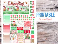 Printable Planner Stickers December Monthly View by LaceAndLogos