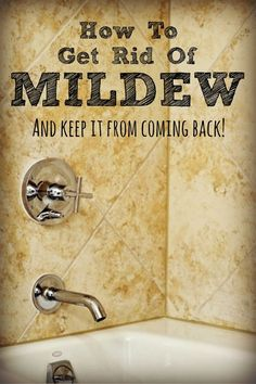 Mold and mildew aren't just unattractive, they can cause serious health problems for your family. Here's how to get rid of it in bathrooms, on furniture, on walls and more -- then keep it from coming back! Bathroom Mold Remover, Mold In Bathroom, Bathroom Cleaning, Bathrooms, Bathroom Remodeling, Bathroom Ideas, Remove Mildew Stains, Mold And Mildew, Cleaning Mold