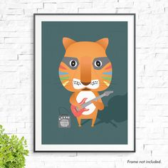 Whether it be mounted on a wall or sitting on a side table, our unique prints are perfect for adding a splash of colourful fun to any space!   Please note our prices are for PRINTS ONLY - frames not included.