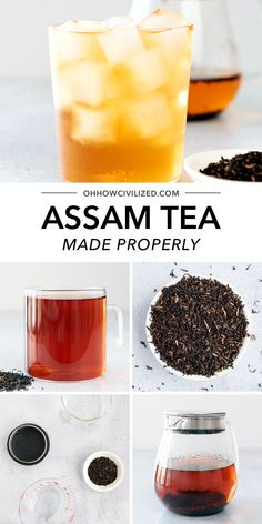 Assam tea is a black tea that's one of the most well known teas in the world. Hot Tea Recipes, Drink Recipes, Making Iced Tea, Tea Sandwiches, Brewing Tea, How To Make Tea, Summer Drinks, High Tea, Teas