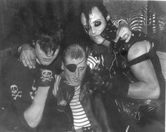 Glenn & Jerry of the Misfits with Captain Spacely at the Peppermint Lounge, NYC