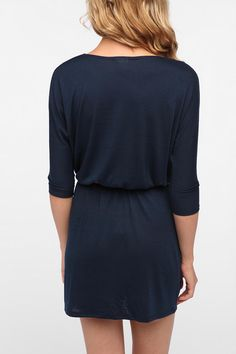 Urban Renewal Surplice Drape Dress Online Only
