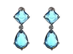 LAUREN by Ralph Lauren Napa Valley Faceted Stone Double Drop Earrings Blue/Hematite - Zappos.com Free Shipping BOTH Ways