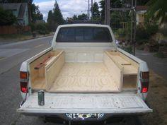 18 Super Ideas for custom truck camper camping Truck Camper, Truck Bed Camping, Pickup Camper, Truck Bed Storage, Camping Storage, Camping Hacks, Custom Truck Beds, Custom Trucks, New Trucks