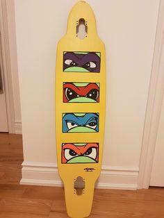 hand painted by cameron jacques #longboard #dgk #tmnt