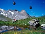 Zillertal, Austria, we where on  these Cable cars going all the way up to the Glaciers, it was breathtaking