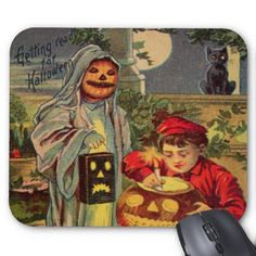 Vintage Halloween Cards | this collage is a homage to vintage halloween cards